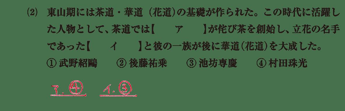 中世の文化27 問題1(2) 解答