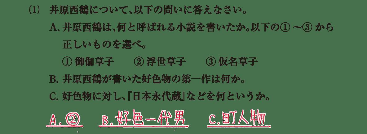近世の文化12 問題2(1) 解答