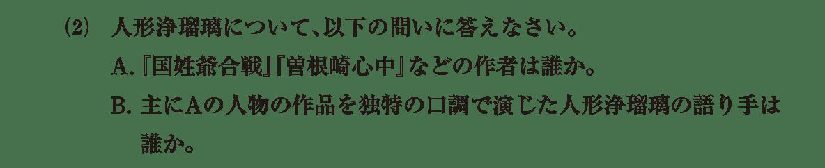 近世の文化12 問題2(2) 問題