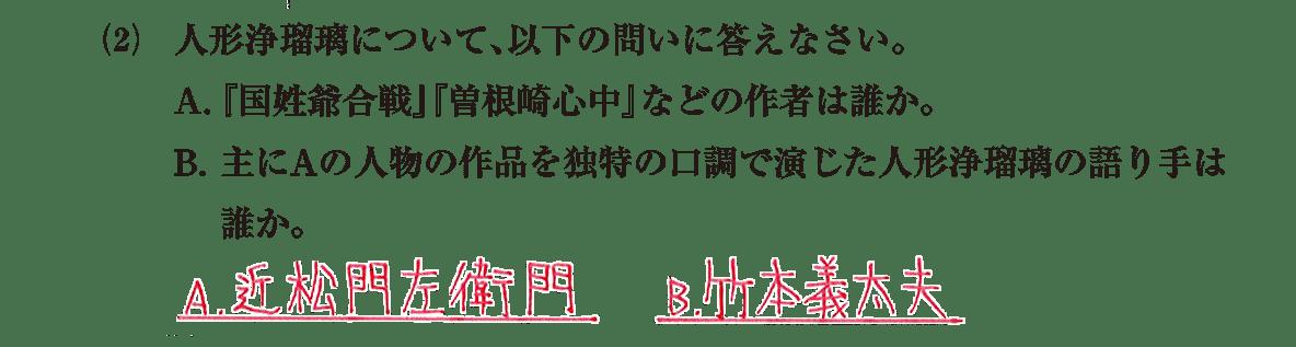 近世の文化12 問題2(2) 解答
