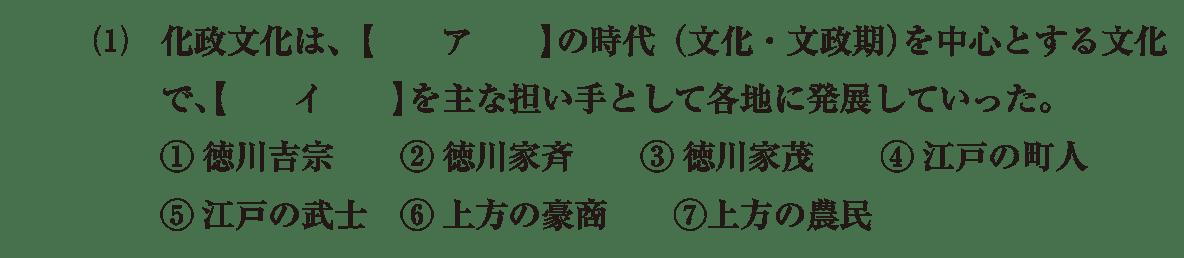 近世の文化15 問題1(1) 問題