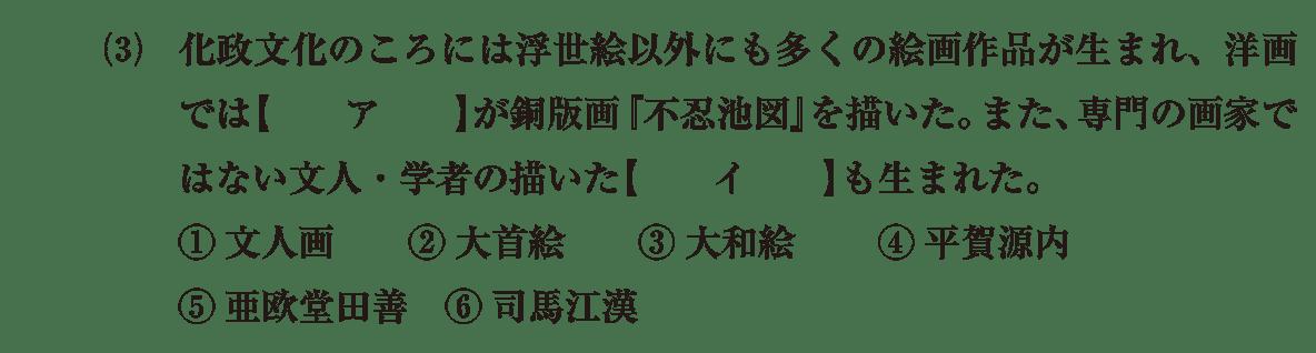 近世の文化15 問題1(3) 問題