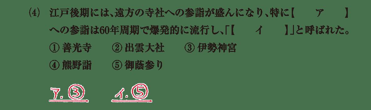 近世の文化15 問題1(4) 解答