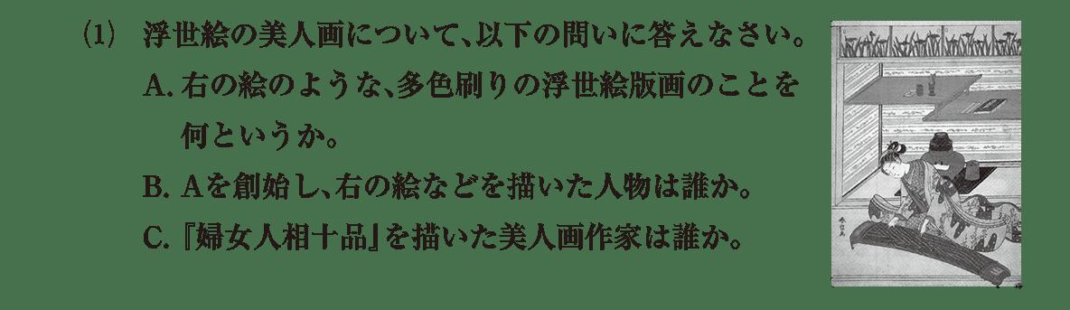 近世の文化15 問題2(1) 問題