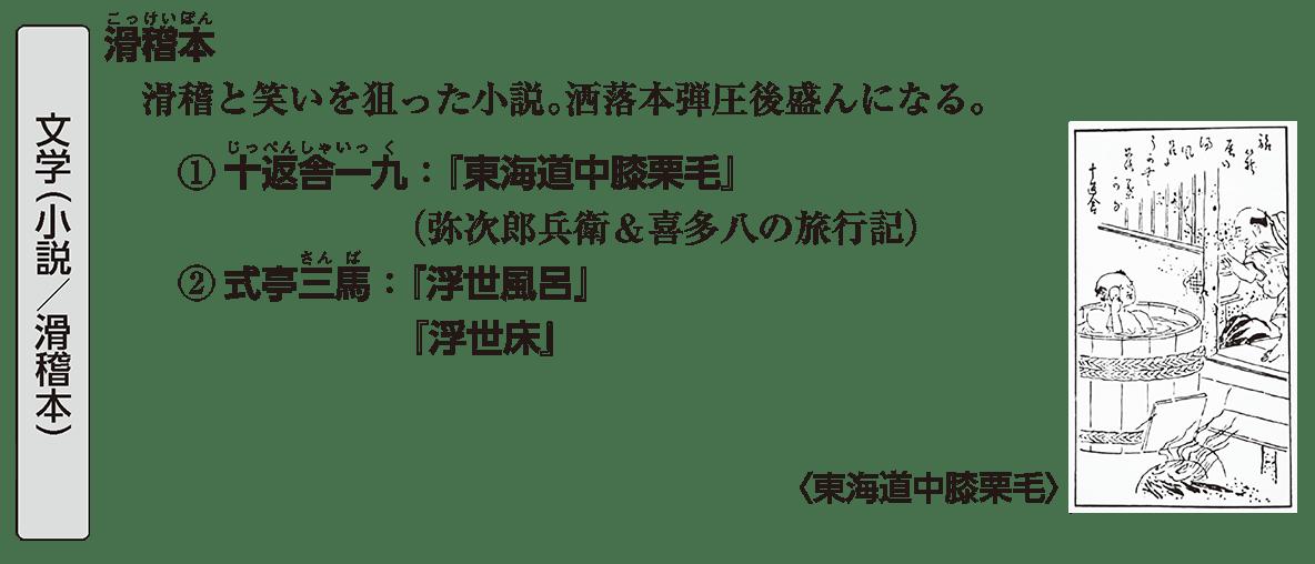 近世の文化16 ポイント2 文学(小説/滑稽本)