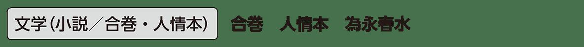 近世の文化16 単語3 文学(小説/合巻・人情本)