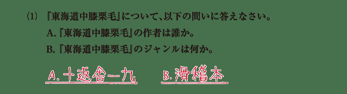 近世の文化18 問題2(1) 解答