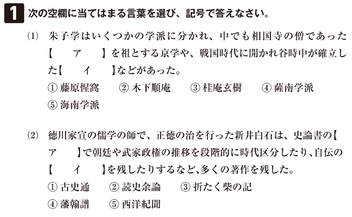 近世の文化21 問題1 問題
