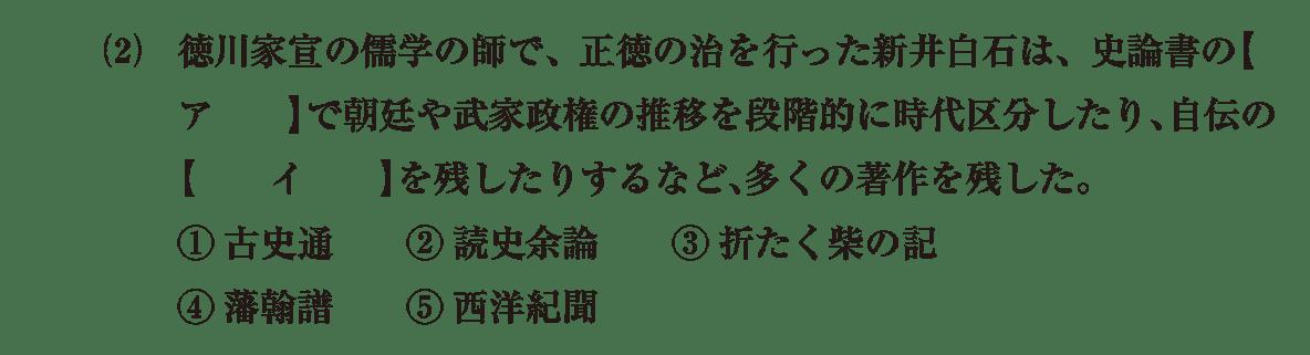 近世の文化21 問題1(2) 問題