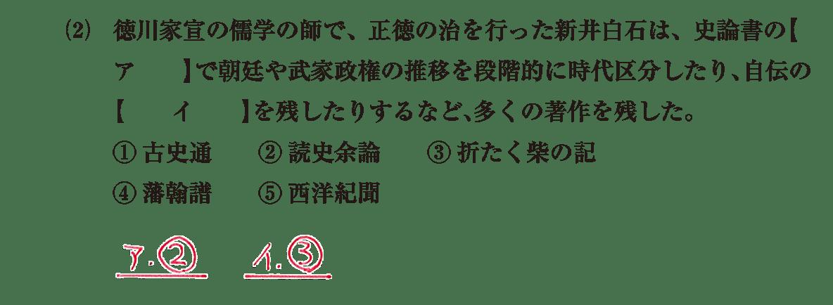 近世の文化21 問題1(2) 解答
