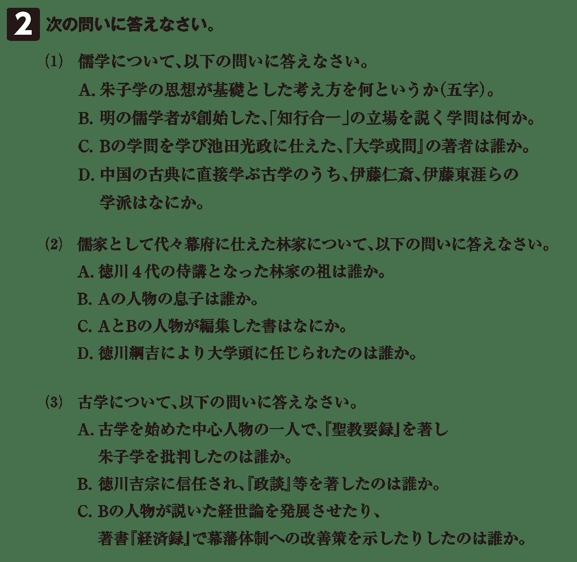 近世の文化21 問題2 問題