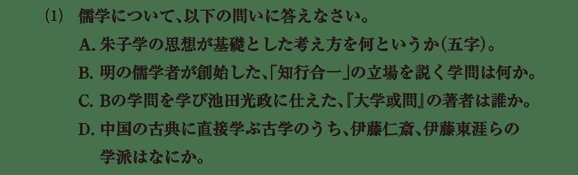 近世の文化21 問題2(1) 問題