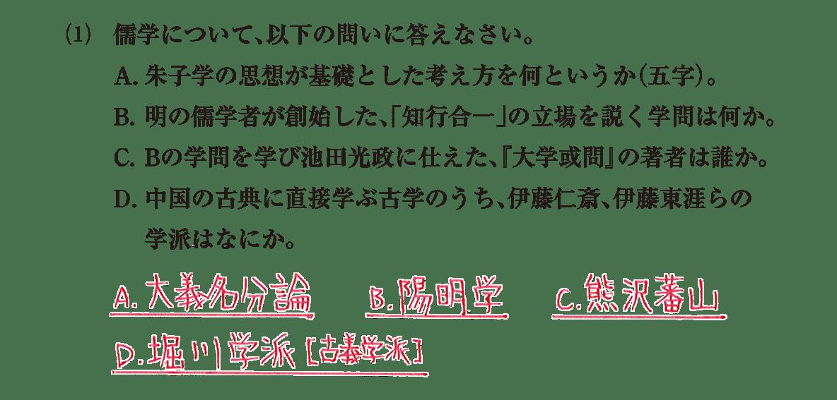 近世の文化21 問題2(1) 解答