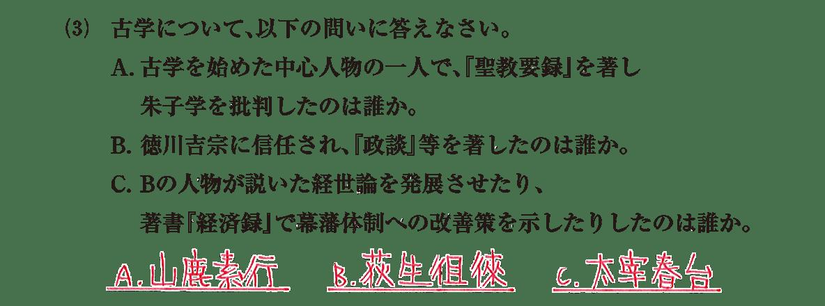 近世の文化21 問題2(3) 解答