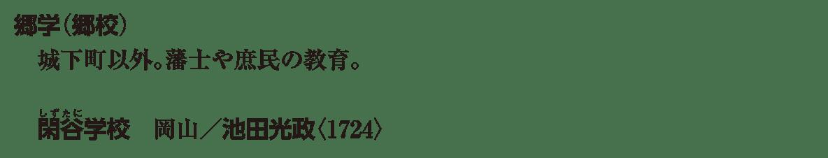 近世の文化23 ポイント2 郷学 から 池田光政<1668> まで。