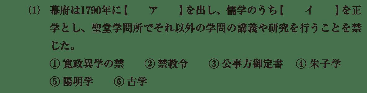 近世の文化24 問題1(1) 問題