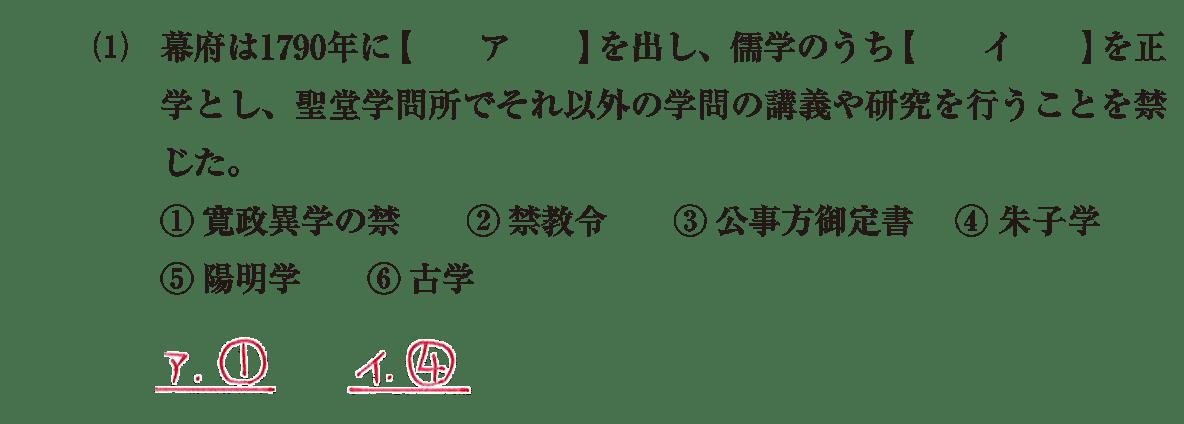 近世の文化24 問題1(1) 解答