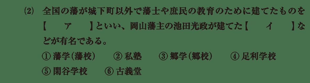 近世の文化24 問題1(2) 問題
