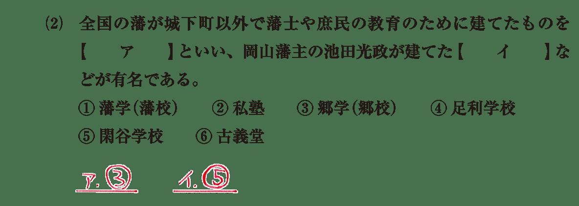 近世の文化24 問題1(2) 解答