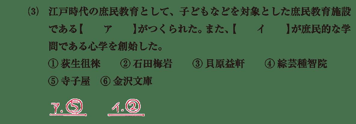 近世の文化24 問題1(3) 解答