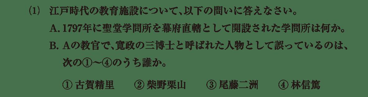 近世の文化24 問題2(1) 問題