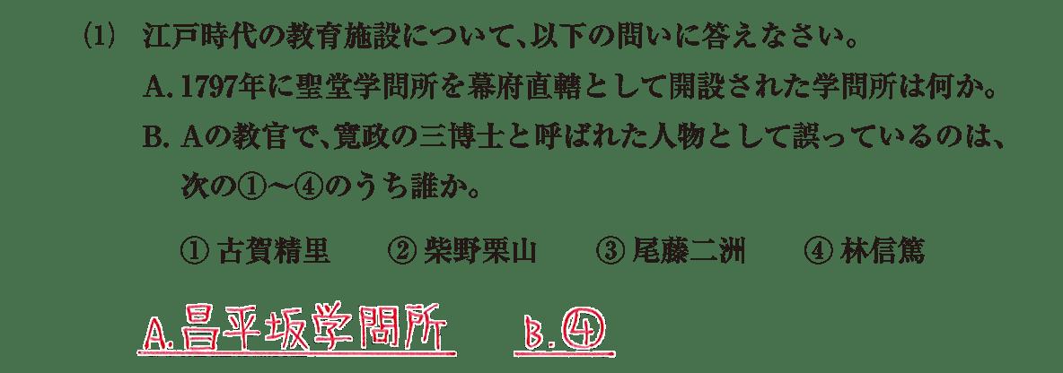 近世の文化24 問題2(1) 解答