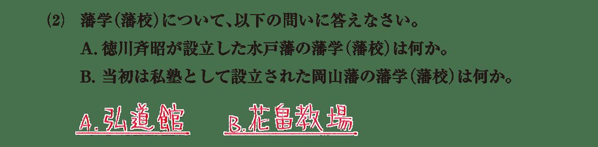 近世の文化24 問題2(2) 解答