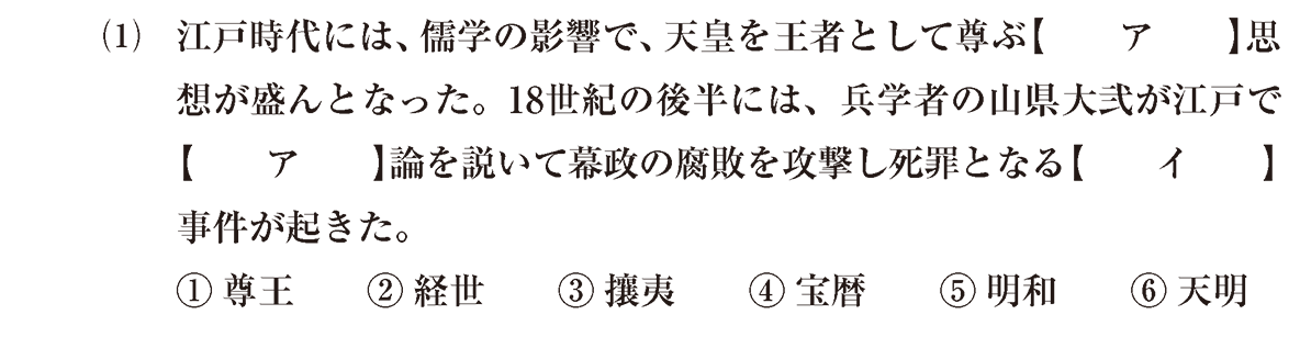 近世の文化27 問題1(1) 問題