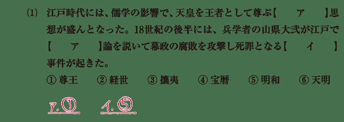 近世の文化27 問題1(1) 解答