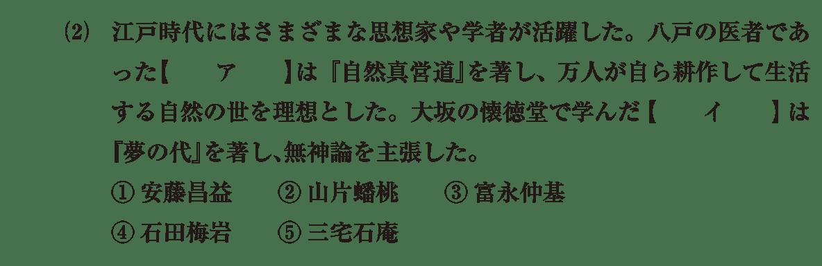 近世の文化27 問題1(2) 問題