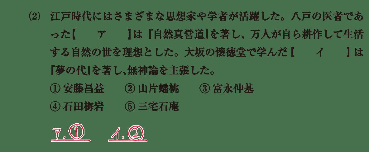 近世の文化27 問題1(2) 解答
