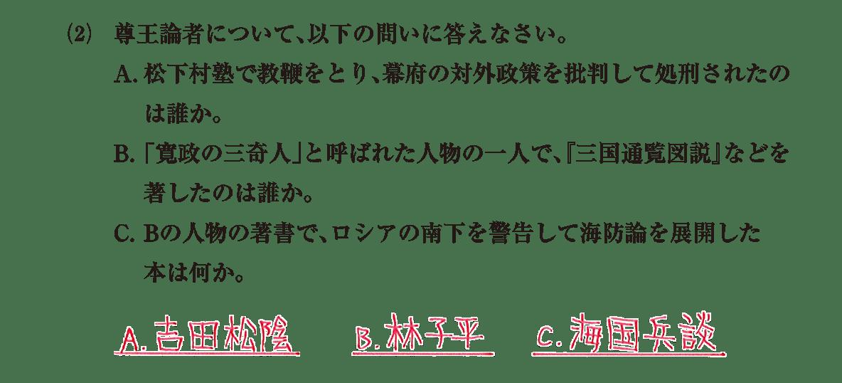 近世の文化27 問題2(2) 解答