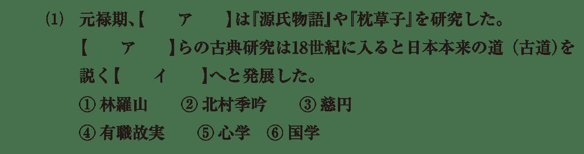 近世の文化30 問題1(1) 問題