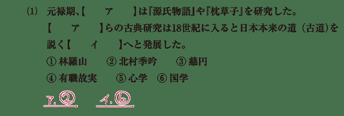 近世の文化30 問題1(1) 解答