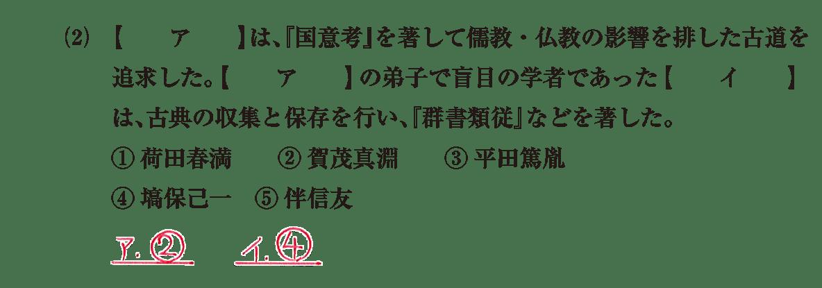 近世の文化30 問題1(2) 解答