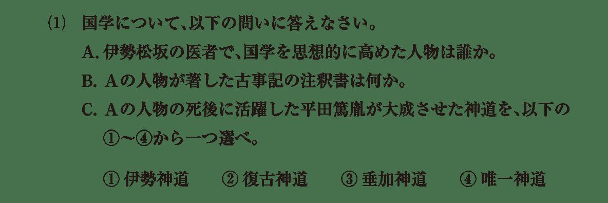 近世の文化30 問題2(1) 問題