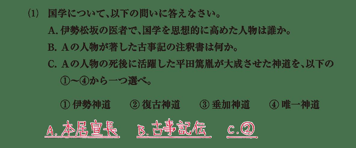 近世の文化30 問題2(1) 解答
