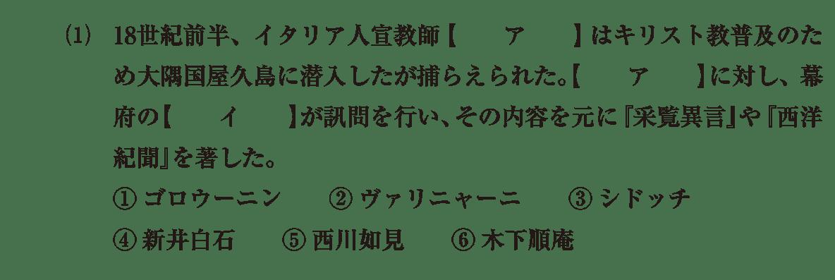 近世の文化33 問題1(1) 問題