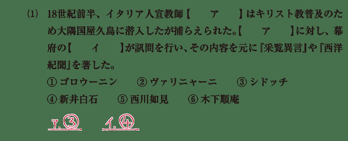 近世の文化33 問題1(1) 解答