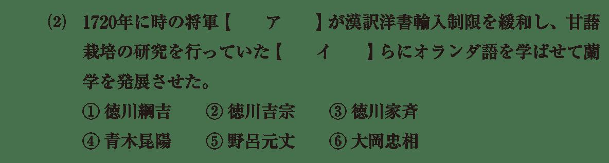 近世の文化33 問題1(2) 問題