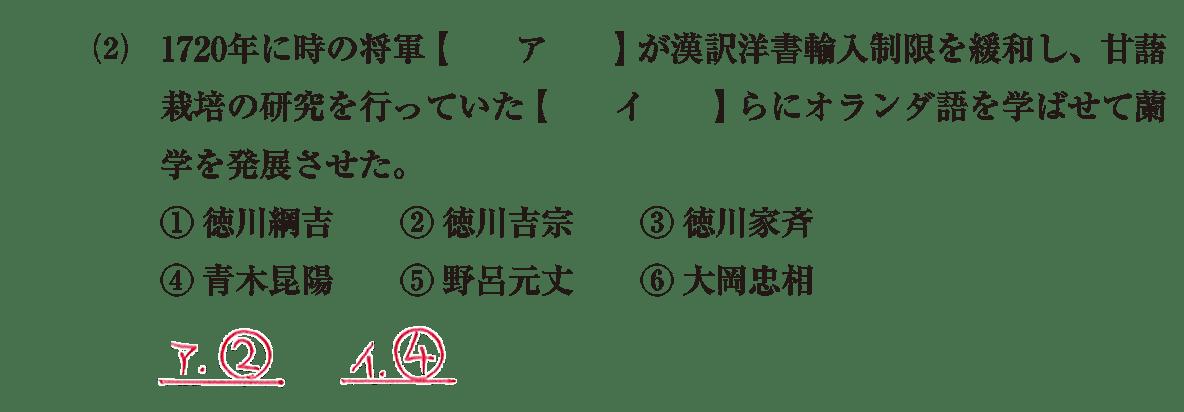 近世の文化33 問題1(2) 解答