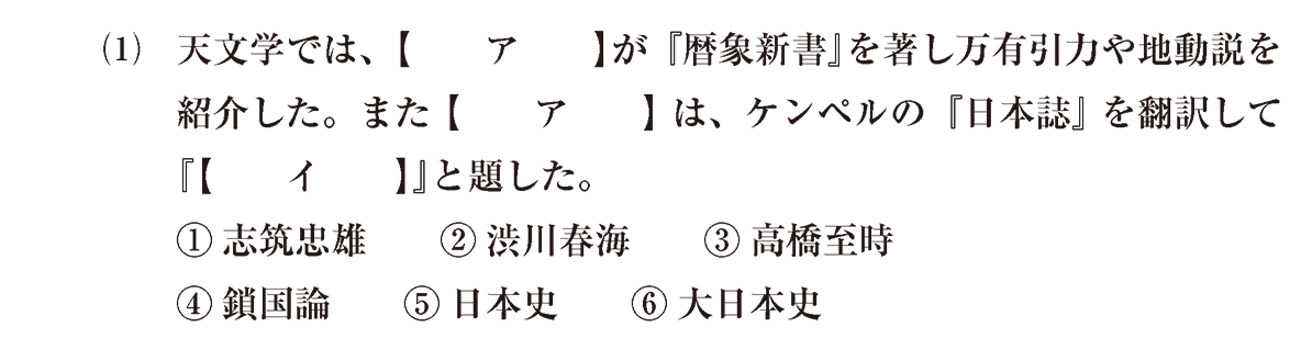 近世の文化36 問題1(1) 問題