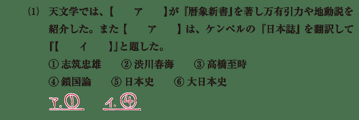 近世の文化36 問題1(1) 解答