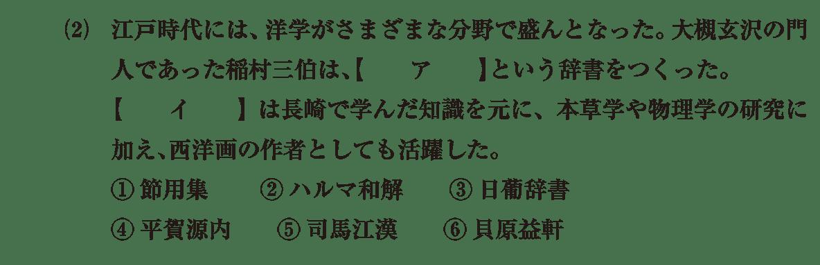 近世の文化36 問題1(2) 問題