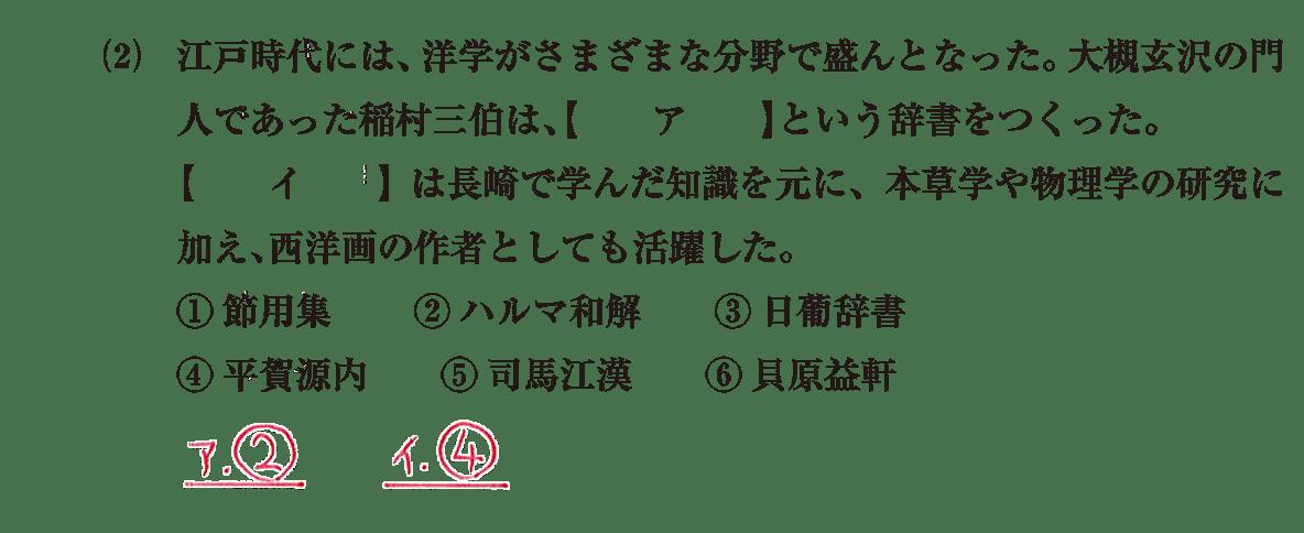 近世の文化36 問題1(2) 解答