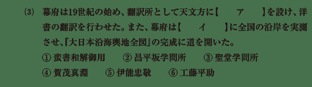 近世の文化36 問題1(3) 問題