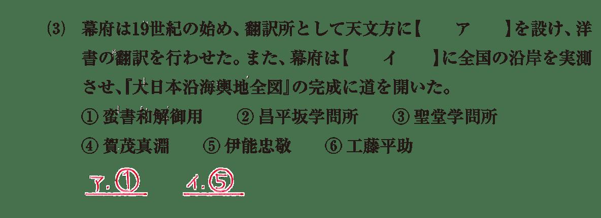 近世の文化36 問題1(3) 解答