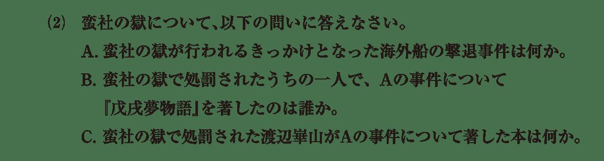近世の文化36 問題2(2) 問題
