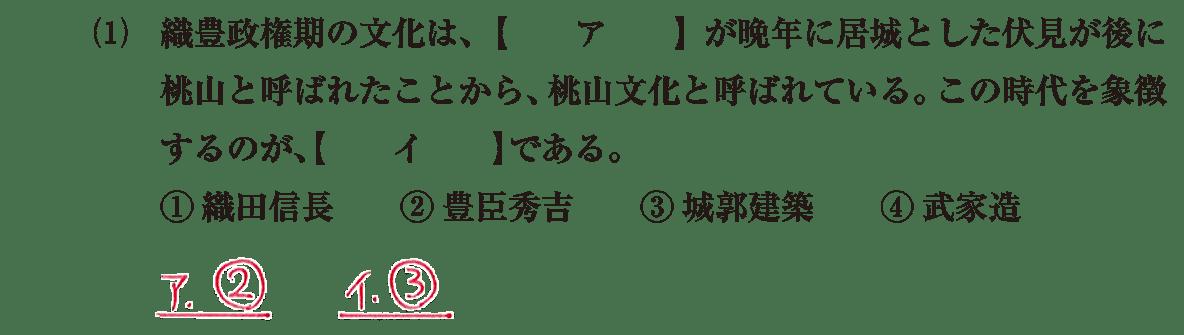 近世の文化3 問題1(1) 解答