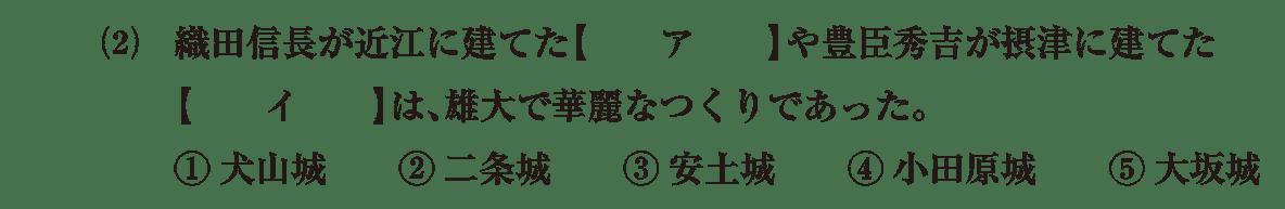 中世の文化3 問題1(2) 問題